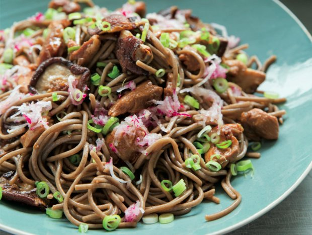 Soba Noodles With Shiitake Mushrooms And Radish Recipe