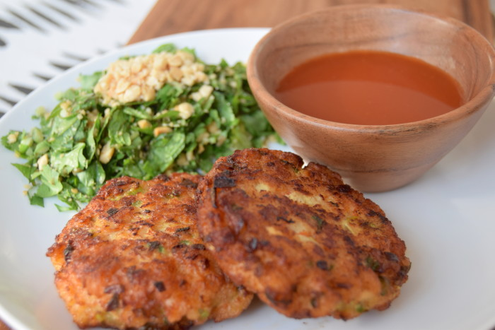 Sweet and fiery hot watermelon sauce is the perfect hit of spicy acidity for Thai shrimp cakes. (Photo: Paul Harrison.)