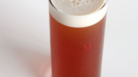 It looks and feels like a beer but tastes like pure chocolate. (Photo courtesy of Mast Brothers.)