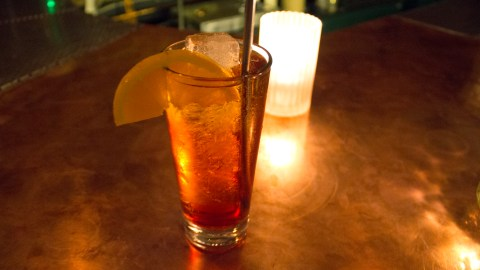 The Negoni Sbagliato at the bar Stop Time in Brooklyn is made with prosecco instead of gin.
