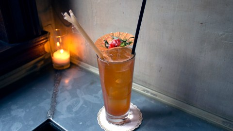 Maison Premiere in Williamsburg, Brooklyn, makes a complex, tropical version of the Pimm's Cup that is perfect for summer drinking.