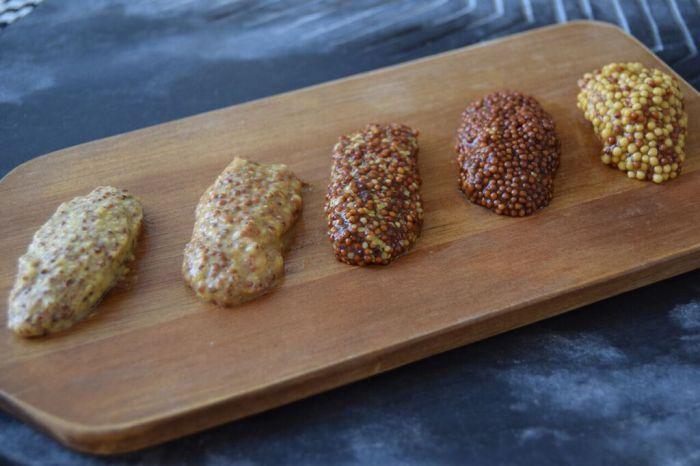 A spread of coarse mustards. (Photos: Paul Harrison.)