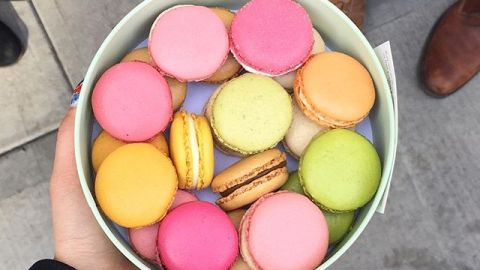 Ladurée in NYC's Soho has macarons shipped from Paris on the daily. (Photo: ofearthlydelights/Instagram.)