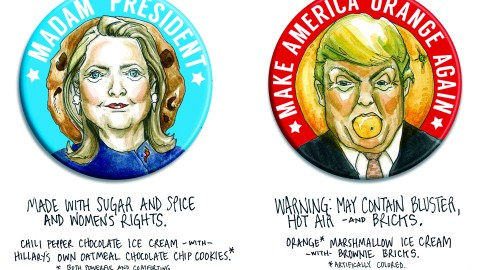 These flavors are going head-to-head at Brooklyn's Ample Hills Creamery. (Graphic courtesy of Ample Hills.)