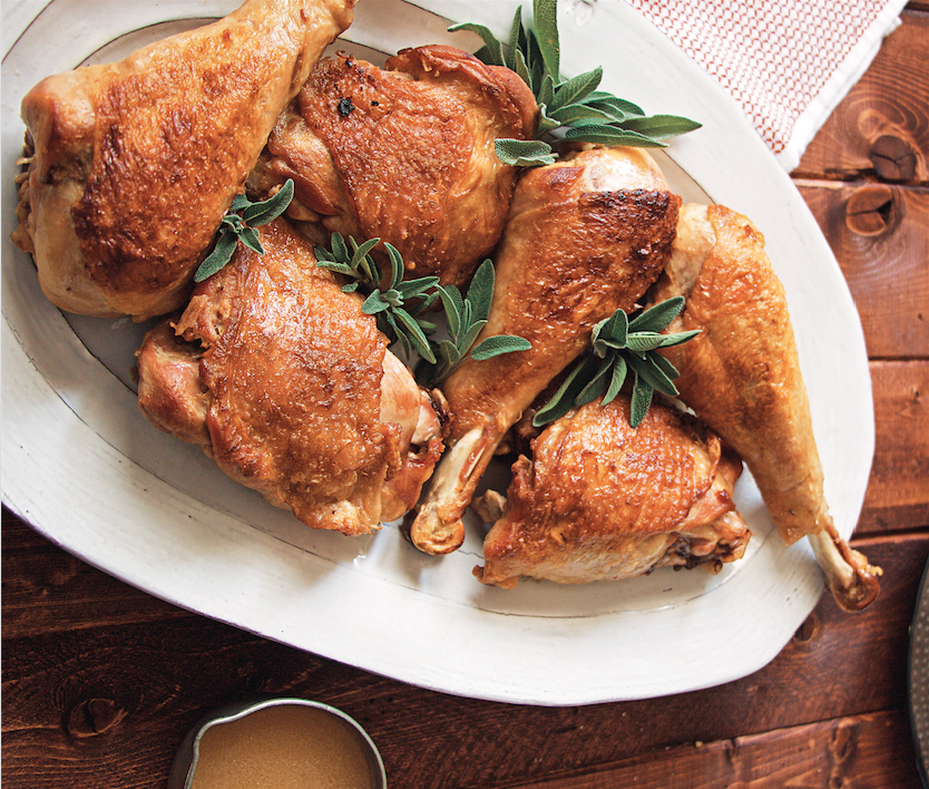 White Wine Braised Turkey Legs Recipe Food Republic