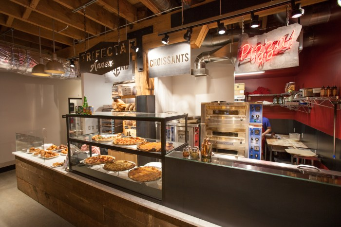 At Trifecta Annex in Pine Street Market, you can enjoy legendary baker Ken Forkish's pizzas and croissants. (Photo credit: Alan Weiner)