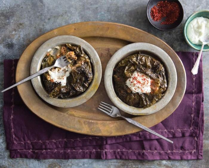 lamb and grape leaf tarts