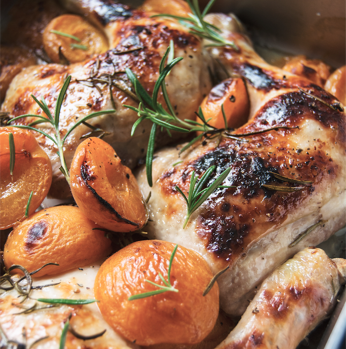 chicken with apricots in riesling