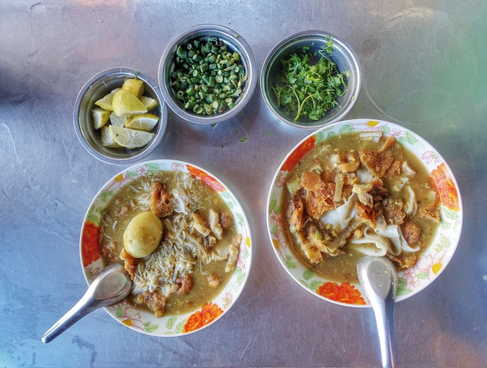 Mohinga is a popular breakfast option in Myanmar.