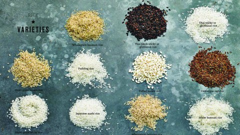 all the kinds of rice