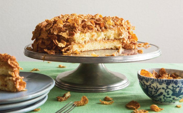 cornflakes and milk cake