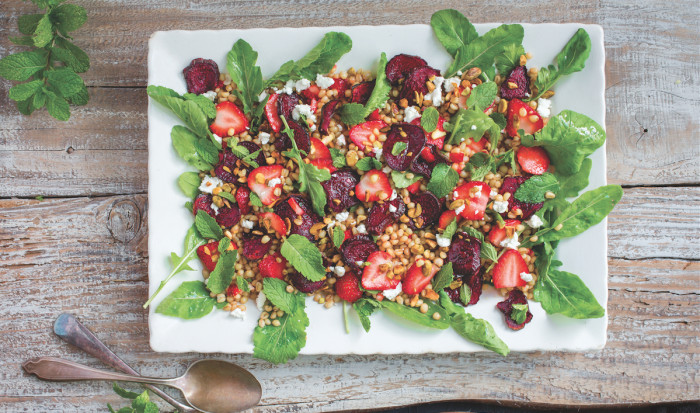 Arugula And Wheat Berry Salad