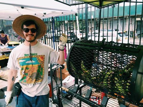 Nate at Smorgasburg