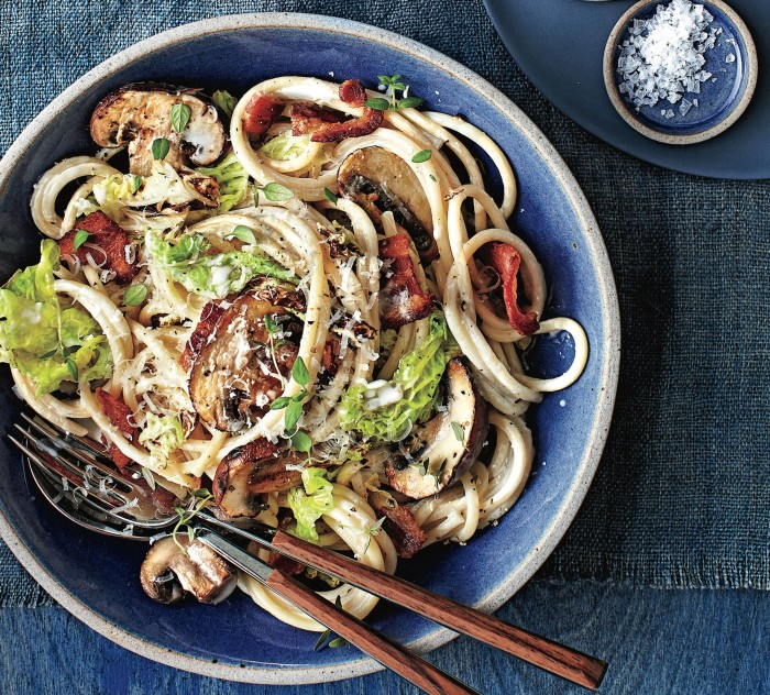 mushroom and bacon pasta