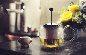 pot of green tea