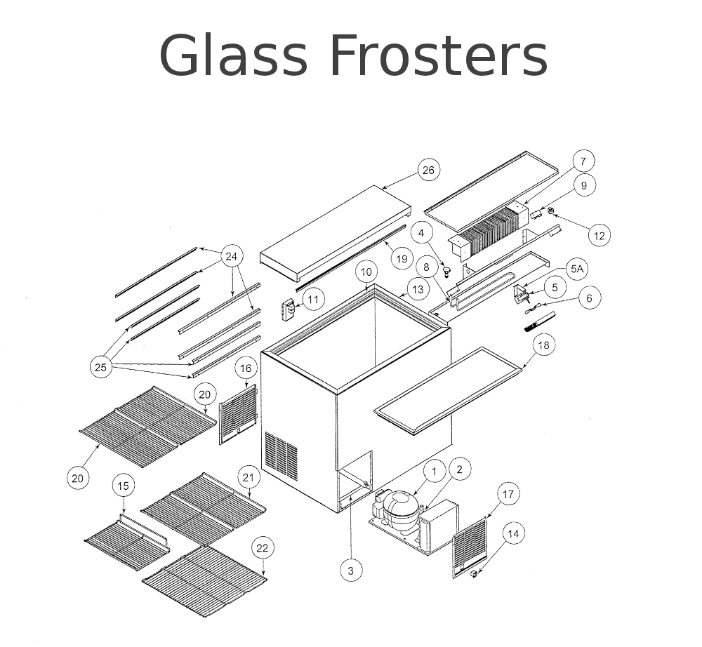 Perlick repair parts for Glass Frosters
