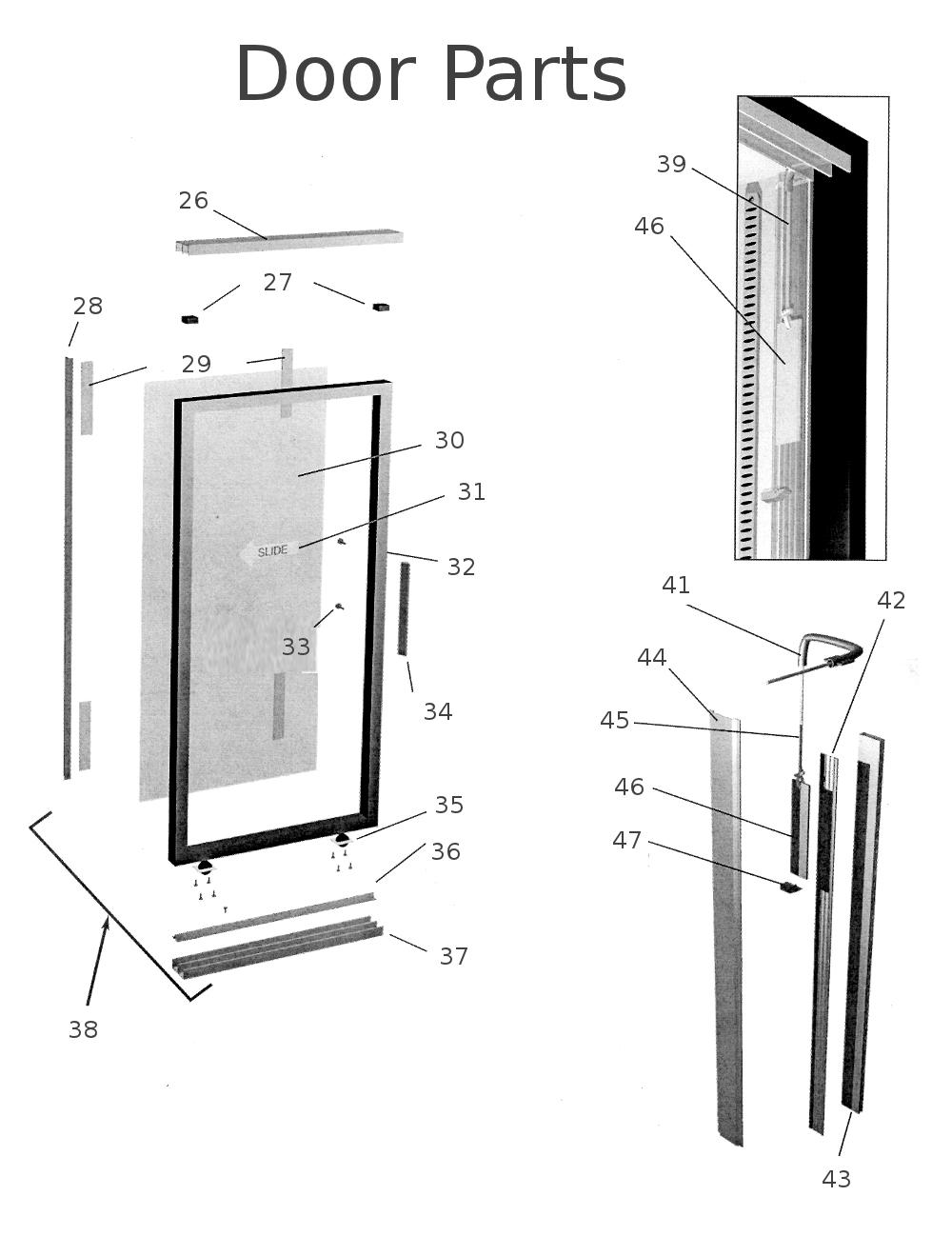 Refrigeration: True Refrigeration Door Parts