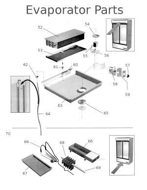 True repair parts for Glass Door Merchandiser