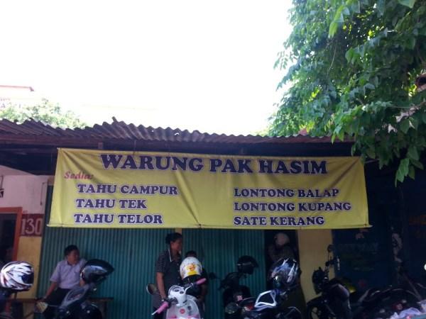 Warung Pak Hasyim via Google Maps