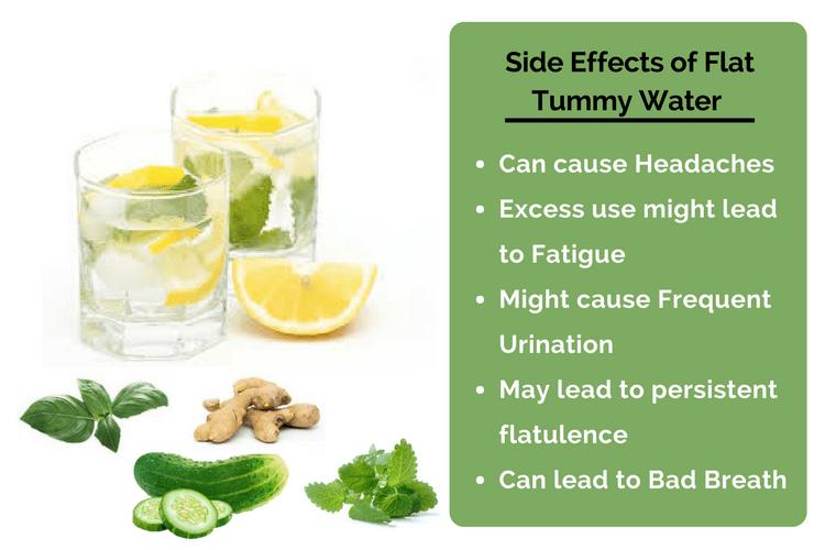 Side effects of flat tummy water