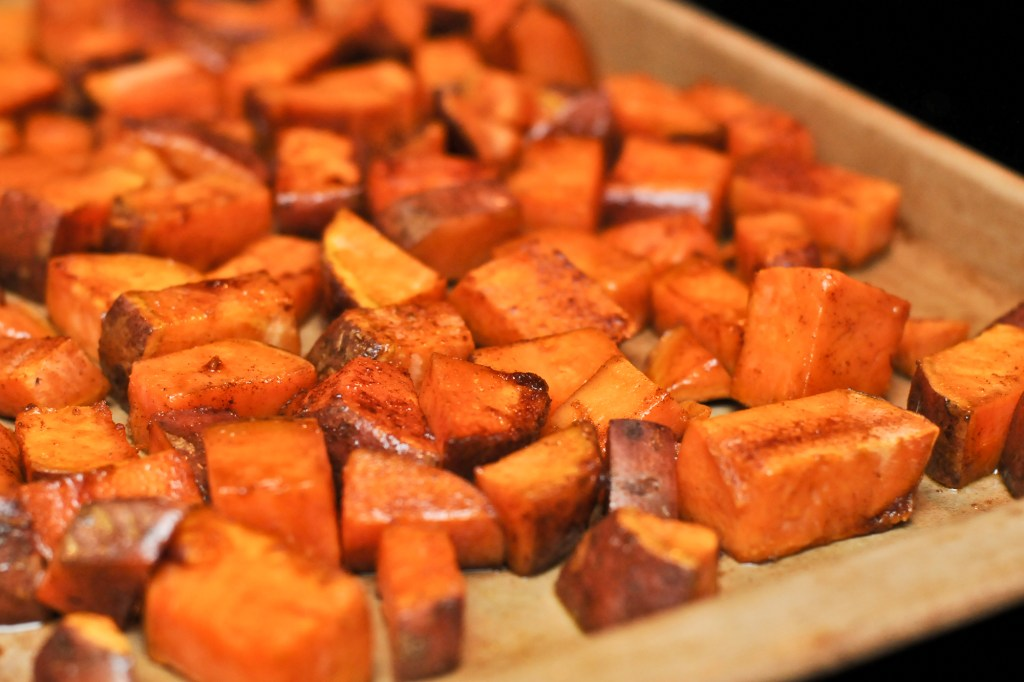 Oven baked candied sweet potatoes