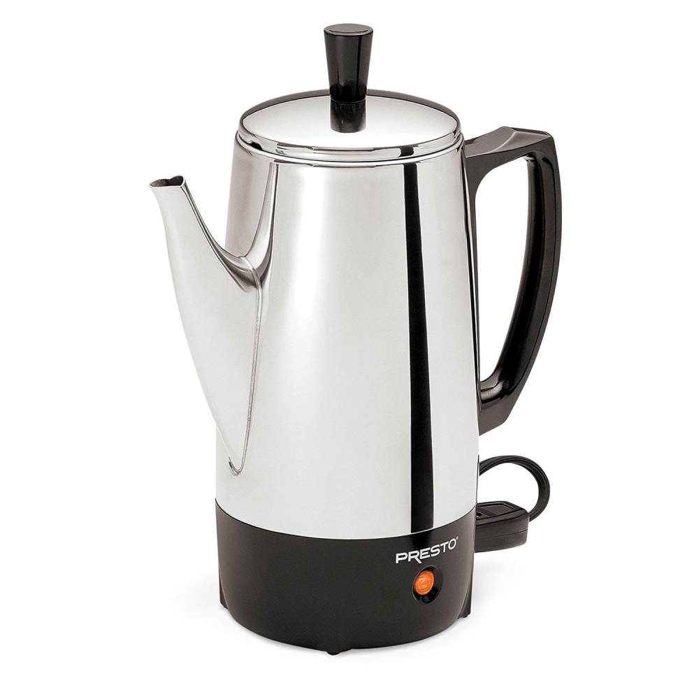 medium resolution of presto 02822 stainless steel coffee percolator