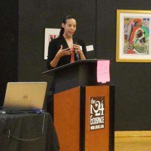 Maegan Parrott speaking