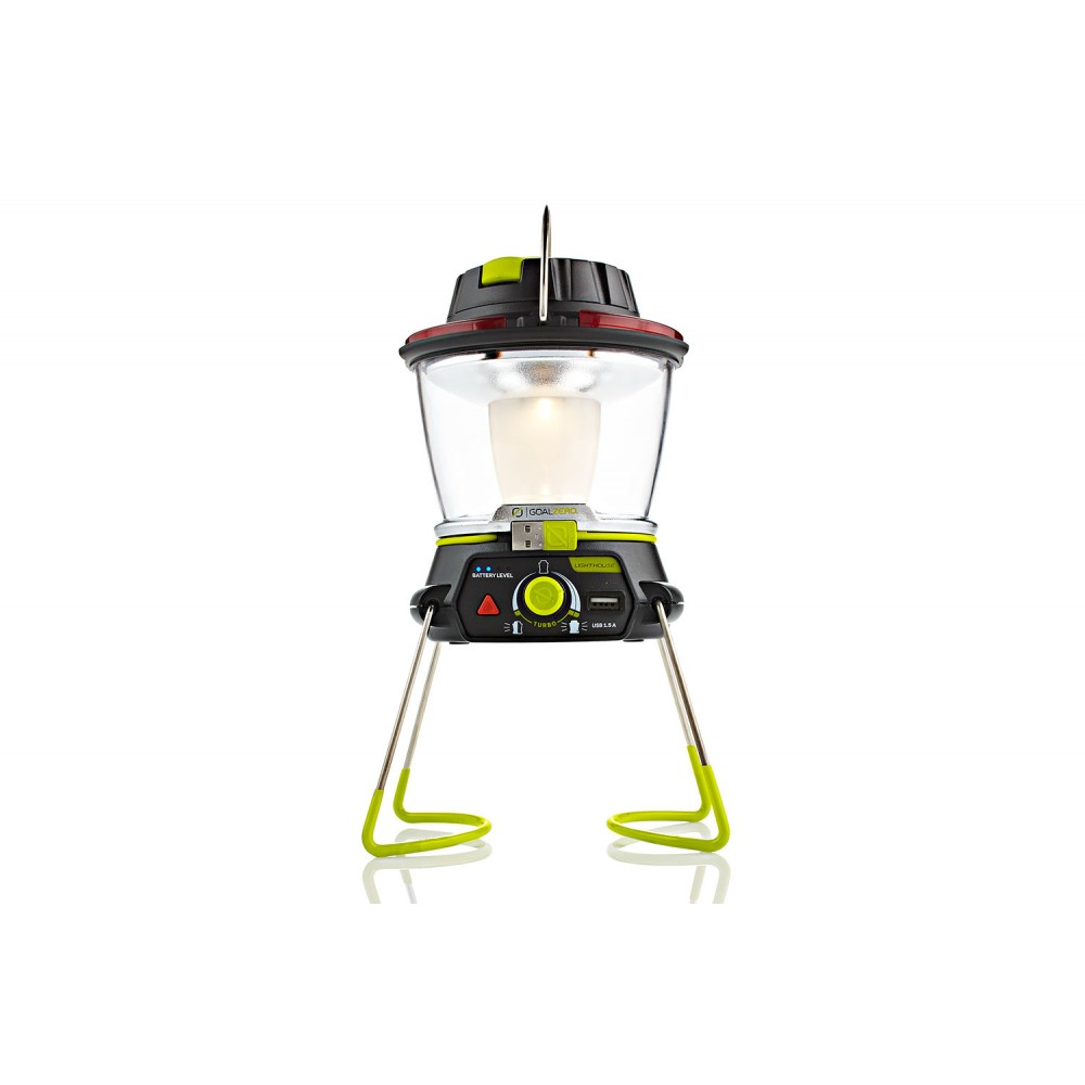 Lighthouse 400 Lumen Lantern with USB and Crank Recharging