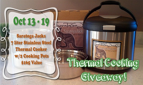 Thermal Cooker Giveaway Oct. 13th-19th, 2014 cooks like a slow cooker |via www.foodstoragemoms.com