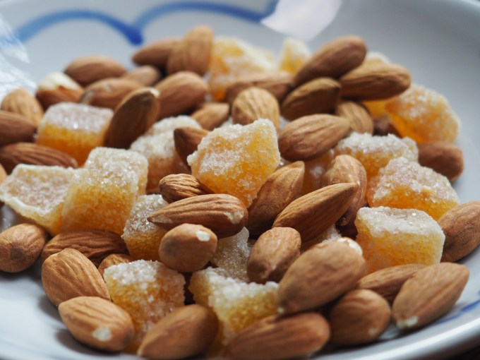 almonds and ginger