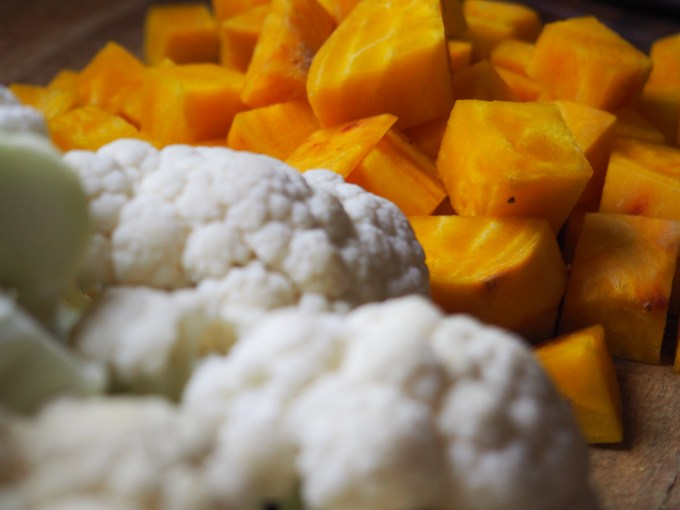 Golden Beets and Cauliflower
