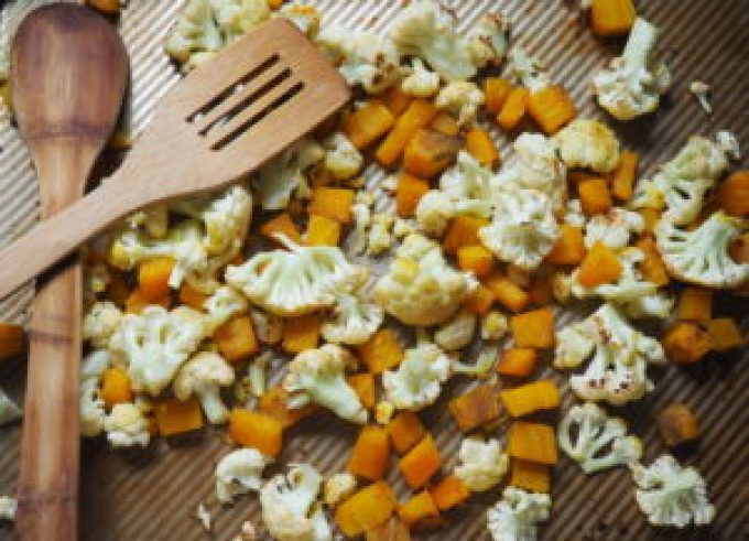 roasted cauliflower and golden beets