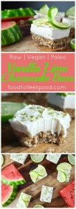 Paleo Vanilla Lime Cheesecake Bars! Raw, Vegan, Real-food ingredients - These sweet and tangy bites are the perfect cold treat for a hot day