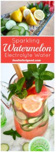 Sparkling Watermelon Electrolyte Water | A perfectly pretty, healthy beverage, great for bridal or baby showers, or recovering after a great workout!