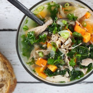 Immune Boosting Whole30 Paleo Sweet Potato Kale Chicken Soup