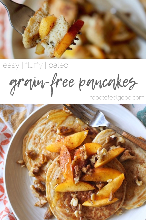 Easy | Fluffy | Paleo | Grain-Free Pancakes | These light and fluffy grain-free pancakes are too good to be true. Made with cassava flour and just a few other simple ingredients, they come together quickly in one bowl and taste like home. #grainfree #glutenfree #pancakes #healthybreakfastrecipes