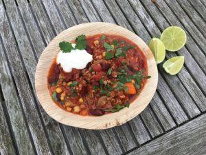 foodtruck met wraps chili con carne