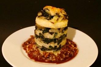 Sellerie-Mangold-Lasagne vegan vegetarisch
