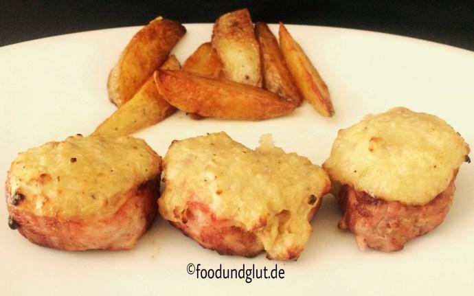 Schweinefilet mit Kartoffel-Frischkäse-Kruste