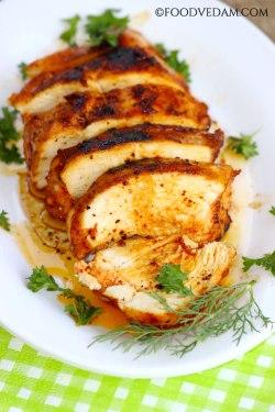 pan fried garlic chicken breast