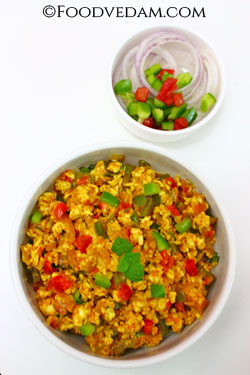 Paneer Bhurji-Cottage cheese Bhurji recipe