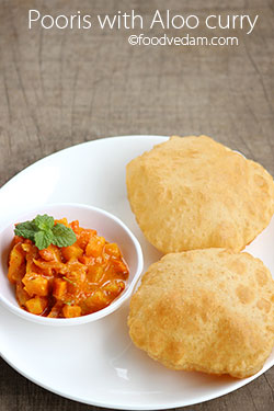 pooris -How to make perfect puris with aloo curry hotel style