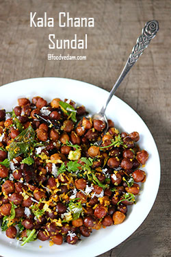 Kala Chana Sundal Recipe-nalla senaga guggillu