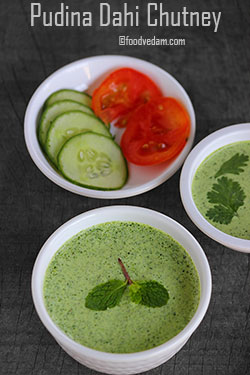 Pudina Dahi Chutney Recipe-Mint yogurt dip for Kebabs