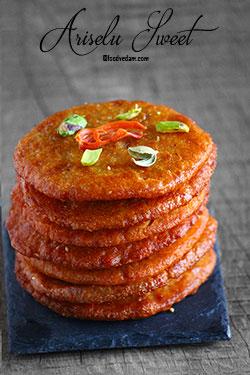 Ariselu Sweet Recipe-how to make Ariselu