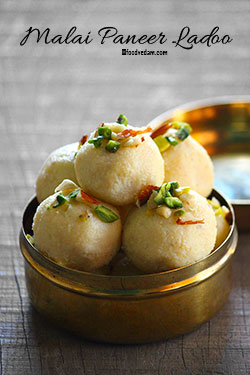Malai Ladoo Recipe-how to make malai ladoo with Paneer