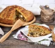 Русский пирог «Курник» с тремя начинками