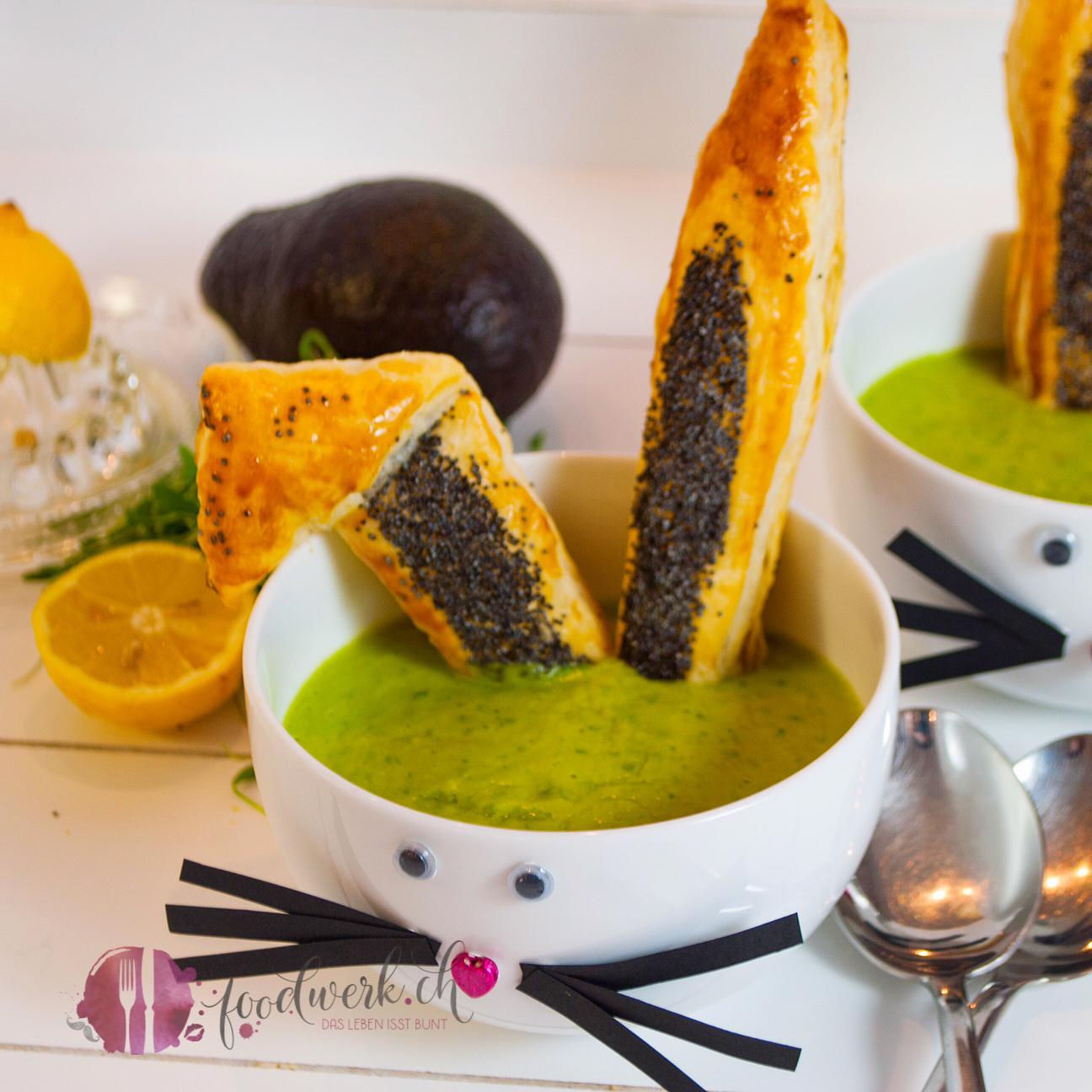 avocado kresse suppe mit knusprigen hasenohren. Black Bedroom Furniture Sets. Home Design Ideas