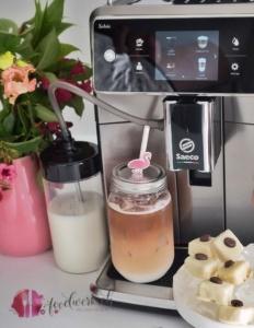 eispralinen mit der neuen saeco xelsis espressomaschine