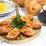 Bruschette mit Rauchlachs von Mövenpick und Mango